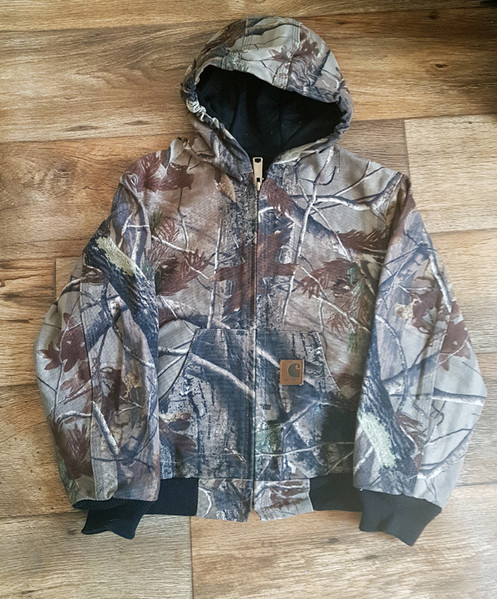 cb5f8b2be3cb9 Carhartt Kids Boys Camo Active Jacket Realtree Xtra. SKU: YYJ220. $ 49.99.  12-ounce, heavyweight, sturdy 100% ring-spun cotton duck canvas;  Water-repellent ...
