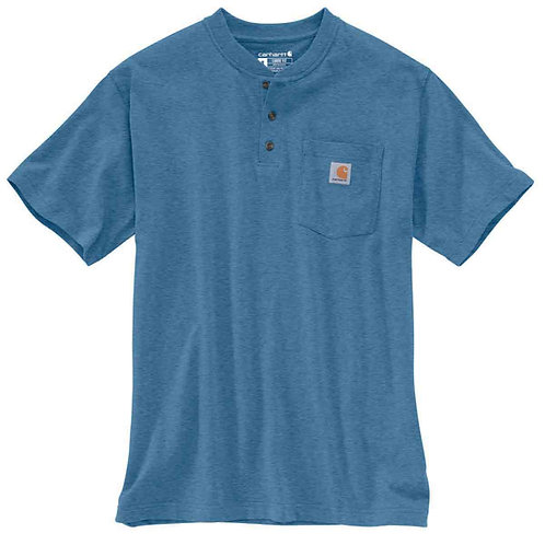 Carhartt Short Sleeve Workwear Henley K84-H09 Costal Heather