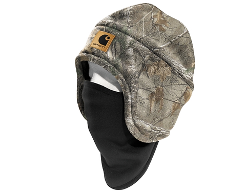 Carhartt Camo Fleece Hat 2-in-1 Headwear
