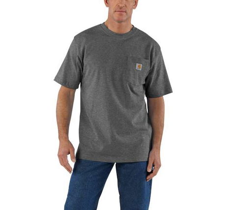 75f224d38b44 Workwear Pocket T-Shirt Men's Original Fit, Heavyweight Cotton T-Shirt - A  Best-Selling Work Day Basic Product Features Original Fit: Our most  generous fit, ...