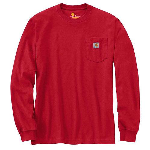 CARHARTT K126-600 WORKWEAR LONG-SLEEVE POCKET T-SHIRT RED