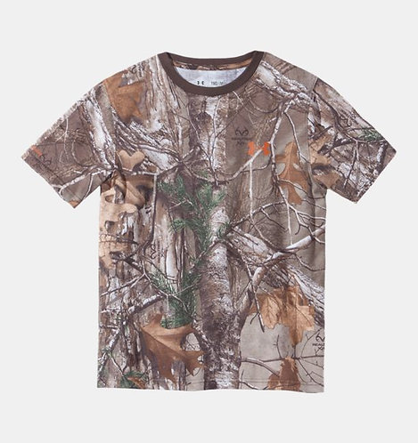 UA Boys' Charged Cotton® Camo Short Sleeve T-Shirt