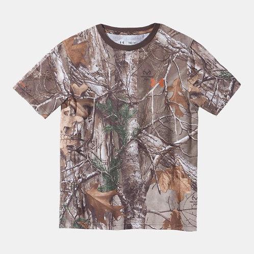 UA Boys' Charged Cotton® Camo Short Sleeve T-Shirt
