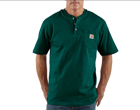 Carhartt Short Sleeve Workwear Henley Hunter Green