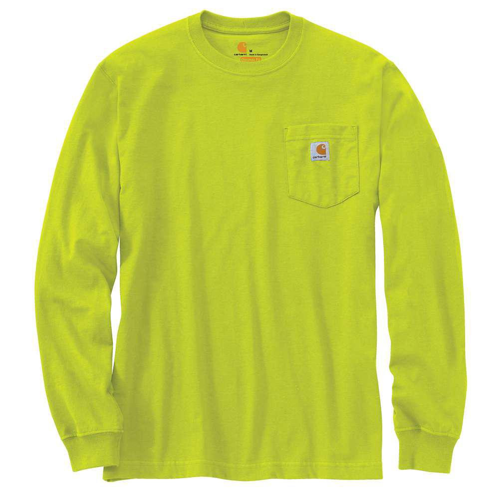 new photos cost charm united states CARHARTT K126-327 WORKWEAR LONG-SLEEVE POCKET T-SHIRT SOUR APPLE