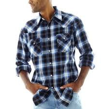 Ely Assorted Plaid Long Sleeve Western Shirt