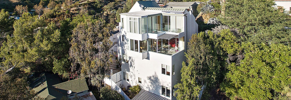 hollywood hills modern home view