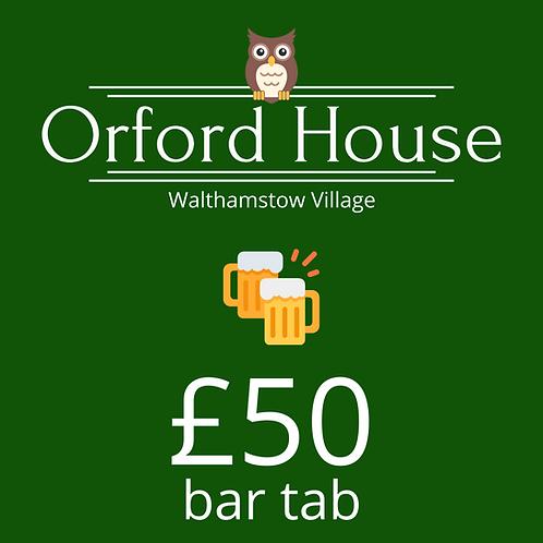 £50 Bar Tab