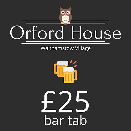 £25 Bar Tab