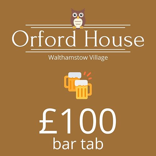 £100 Bar Tab