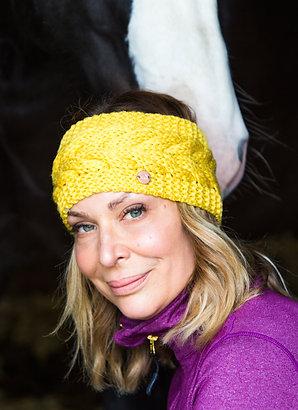 The Huff Headband | Wool | Mustard