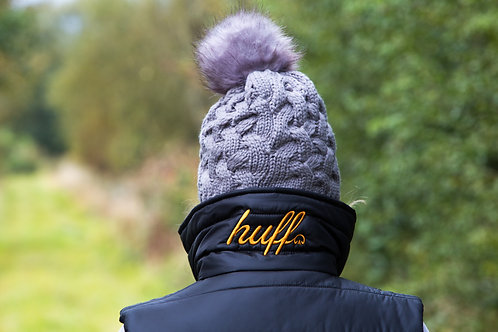 Cable Knit Bobble Hat | Grey