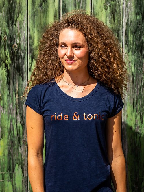 Ride & Tonic Rolled Sleeve Tee | French Navy