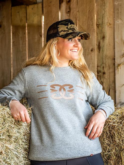 Copper Hoof Link Organic Cotton Crew Neck Sweater | Grey