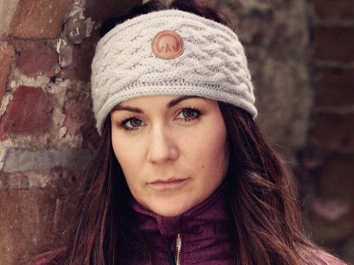 The Huff 100% Merino Wool Headband | Light Grey