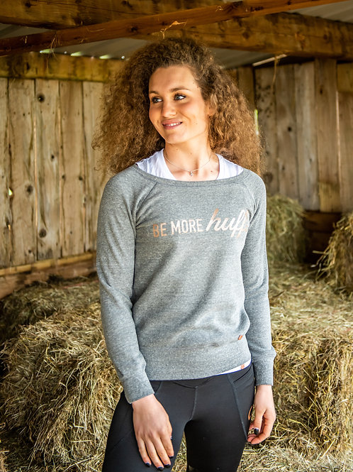 Slouch Sweater Be More Huff | Grey
