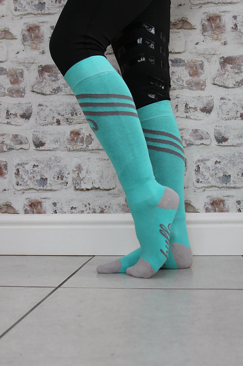 The Huff Riding Sock | Teal