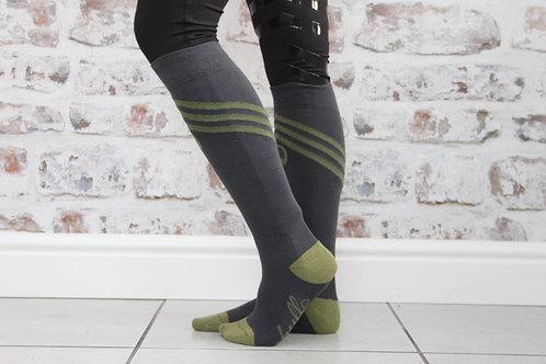 The Huff Riding Sock | Grey