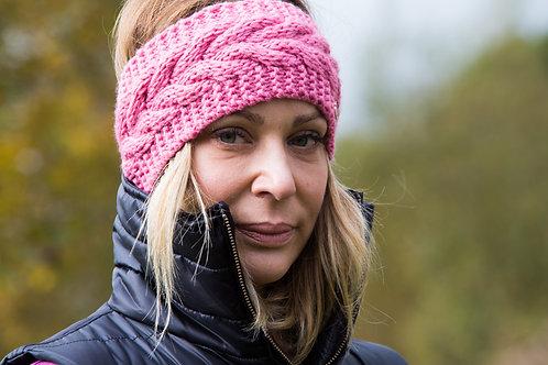 The Huff Headband | Wool | Rose Pink