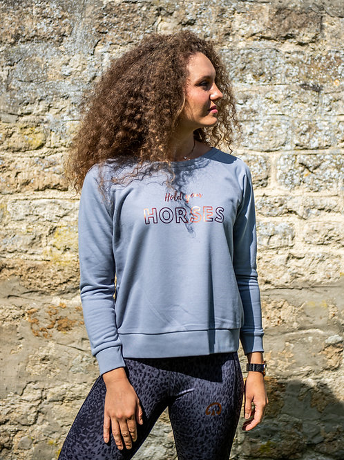 Hold Your Horses Sweater | Lava Grey