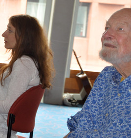 With Pete Seeger