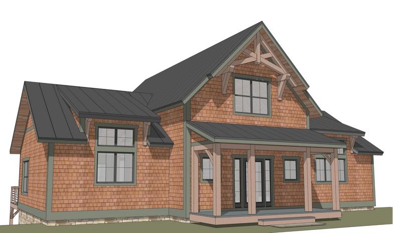 Stowe timber frame exterior