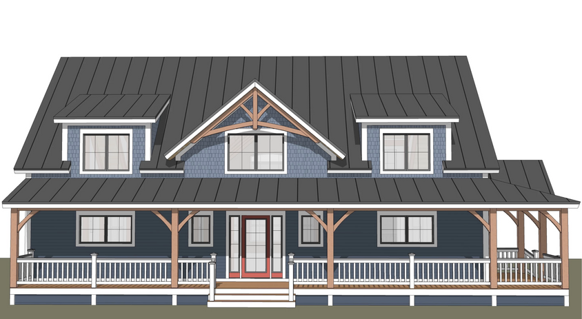 Champlain timber frame exterior