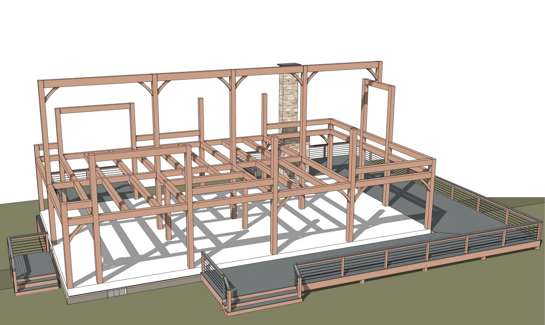 Grand Isle timber frame