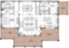 Lincoln modern timber frame floorplan