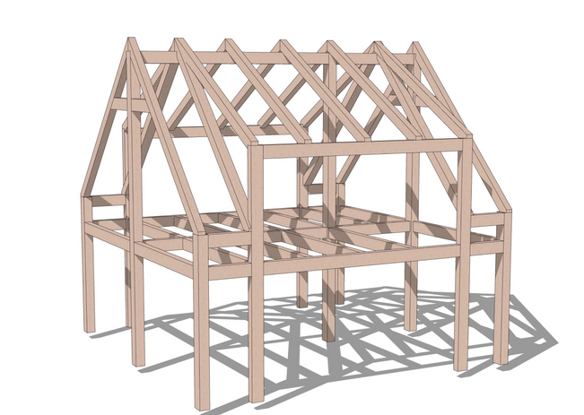 Warren timber frame