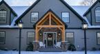 timber frame porch truss- Finger Lakes