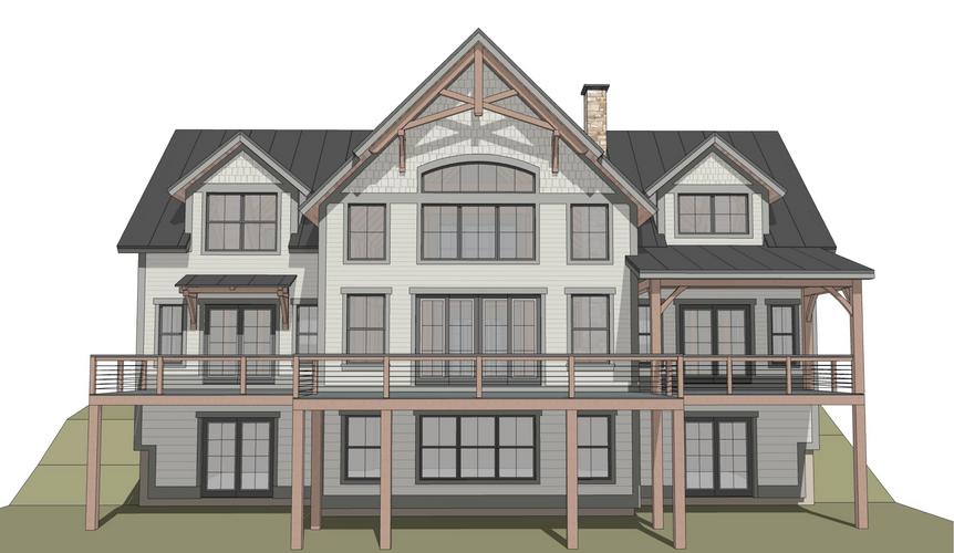 Newport timber frame exterior