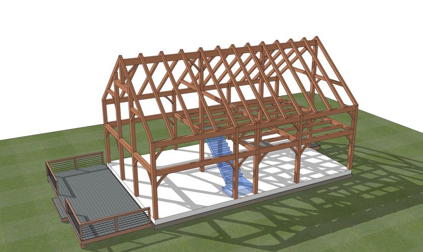 Stratton barn home timber frame