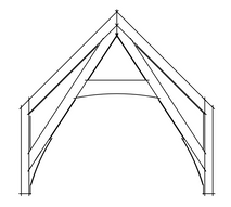Timber frame cruck truss