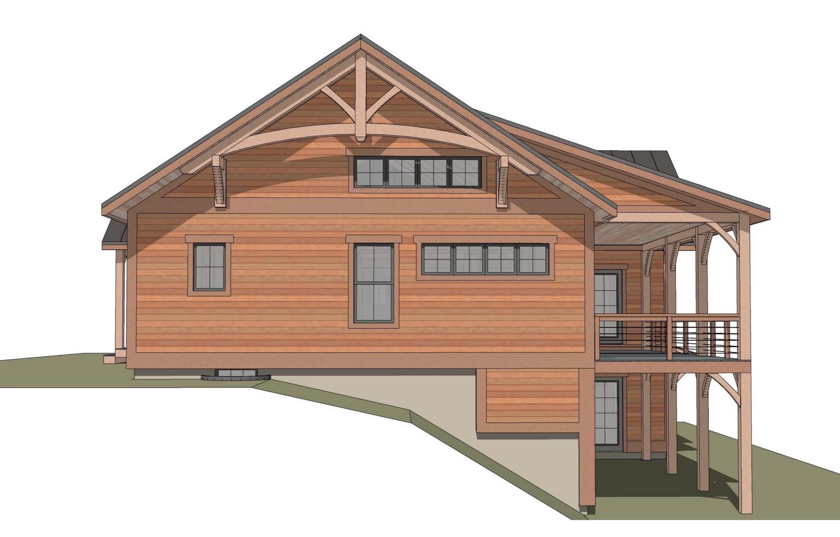 Burke timber frame exterior