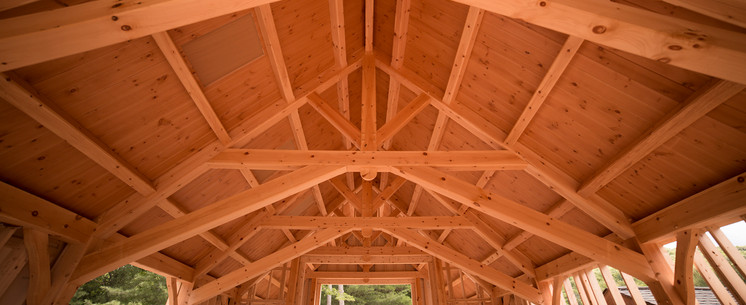 Timber frame scissor truss - Upstate New York