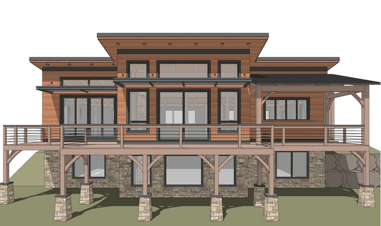 Lincoln timber frame exterior
