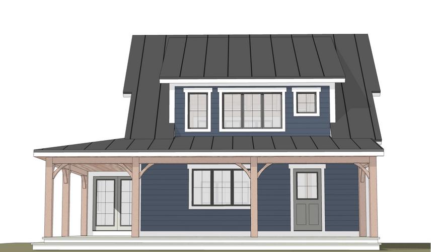 Warren timber frame exterior