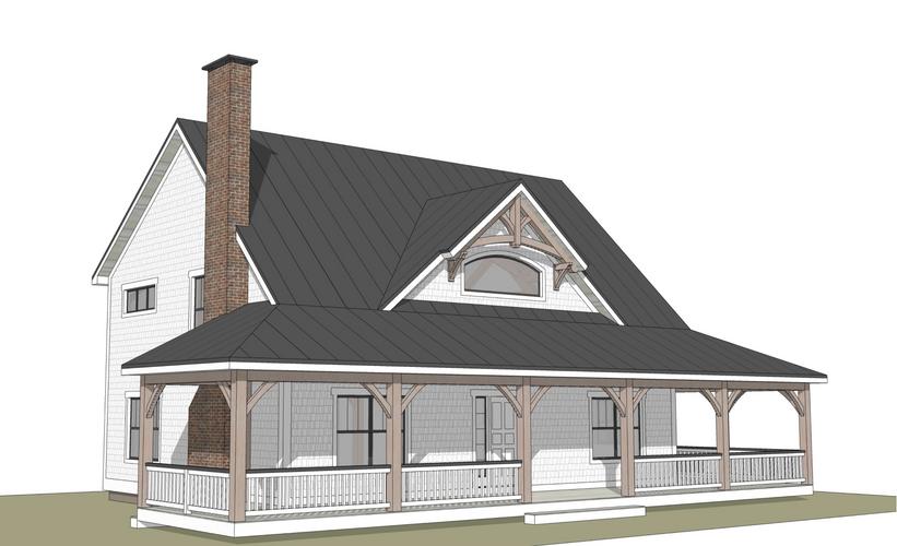 Huntington timber frame exterior