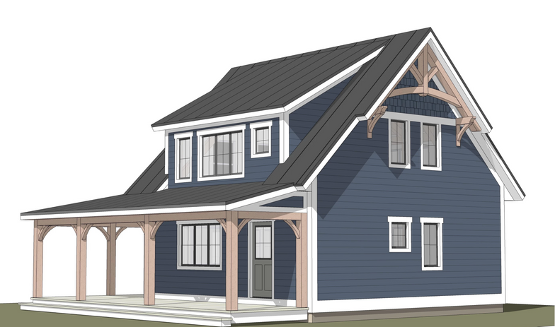 Warren timber frame exterior