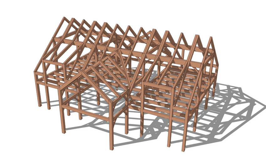 Champlain timber frame