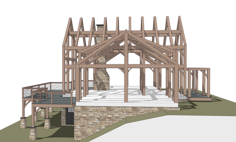 Stowe timber frame