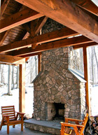 Outdoor Timber Frame Room
