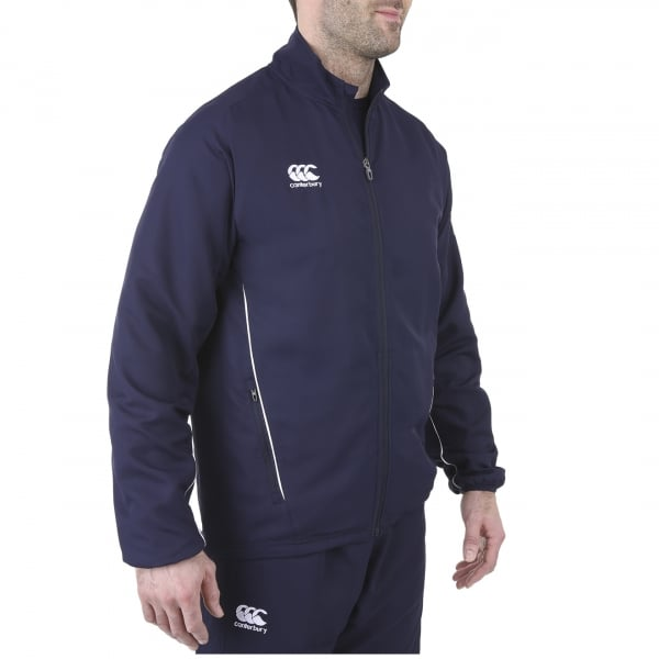 Navy-Blue-Solid-Track-Jacket-model 5