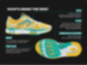 newton running shoe action/reaction technology lug pop point of power