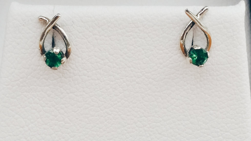 Taurus Emerald Studs