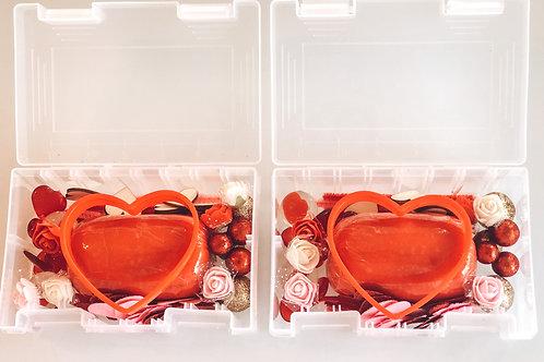 Set of 2 Mini-Valentine's Playdough Sensory Kits