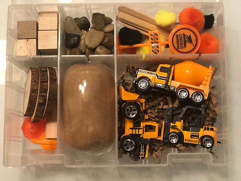 Construction Playdough Sensory Kit