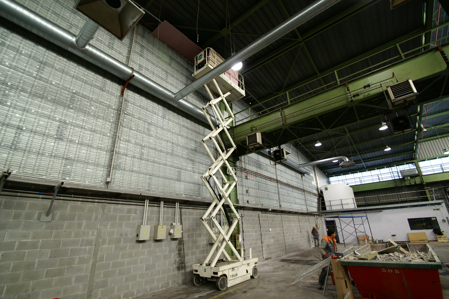 Instalacion franja EI60 1m ancho