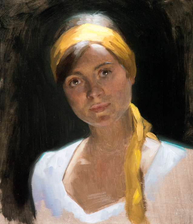 self portrait with yellow head band.jpg